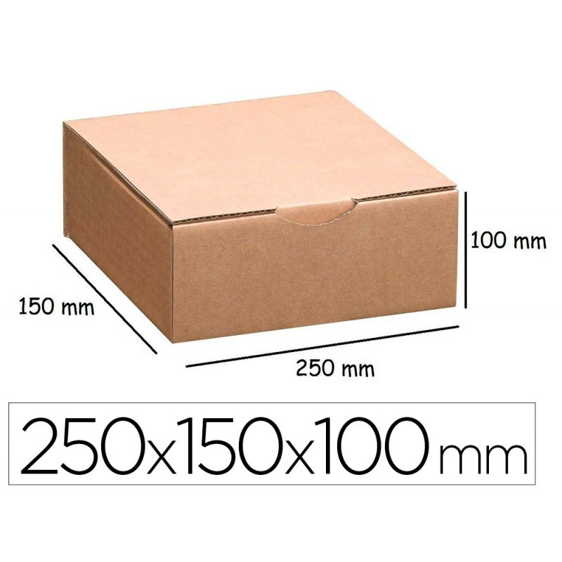 Boîte postale antalis carton ondulé kraft havane 250x150x100mm idéale expédition petits produits