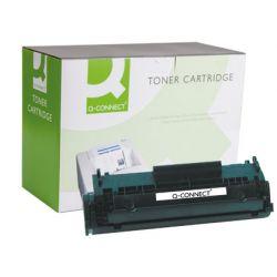 Toner laser q-connect compatible imprimantes hp q2612a couleur noir 2000p