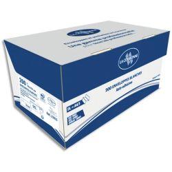OXFORD Boîte de 200 enveloppes blanches auto-adhésives 90g format 110x220mm DL