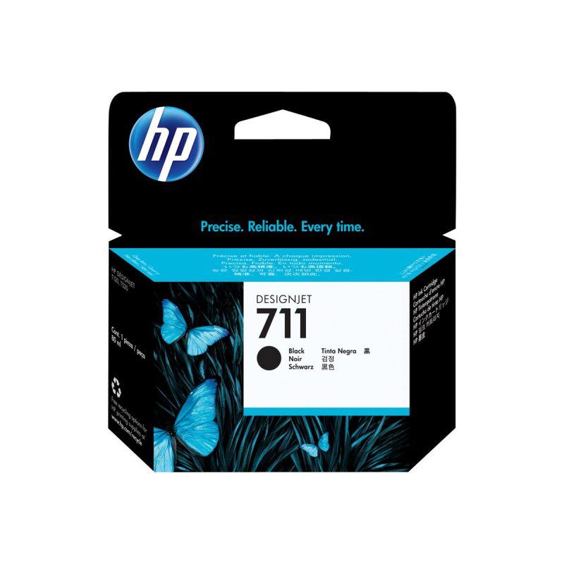 HP 711 original cartouche d encre noir haute capacité 80ml pack de 1