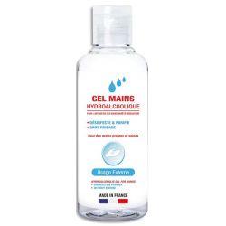 1ER Flacon 100 ml gel hydro-alcoolique désinfectant pour les mains