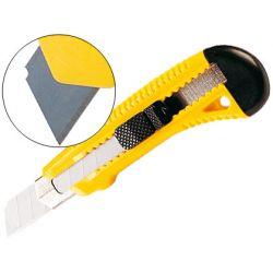 Cutter q-connect plastique large rétractable lame 18mm spécial emballage carton blister