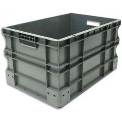 VISO Bac de rangement Gris en polypropylène, gerbable, charge 40 kg - Dimensions : L60 x l40 x H33 cm