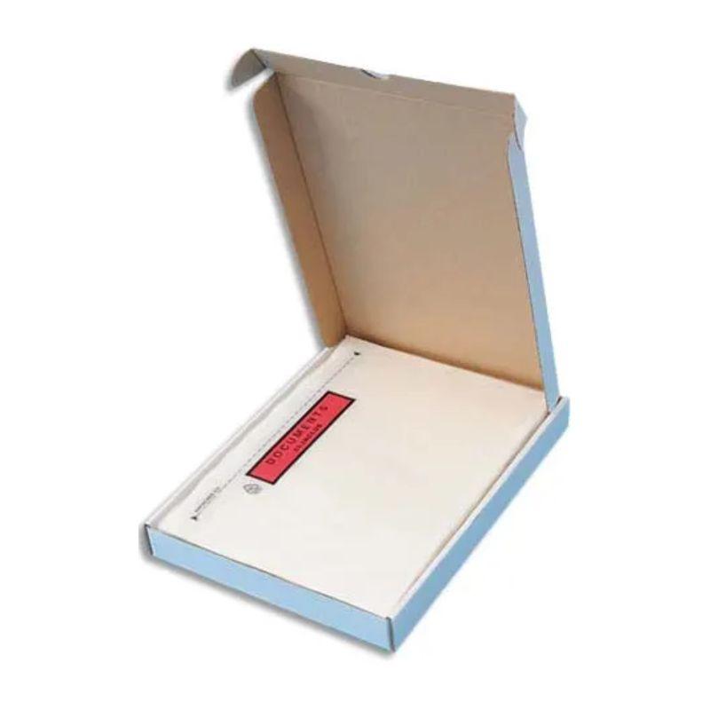 Boîte de 100 Pochettes d'expédition document ci-inclus - Format DL : 225 x 115 mm transparent