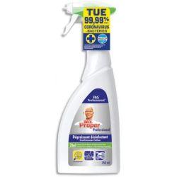 MR PROPRE Spray 750 ml Dégraissant et désinfectant des surfaces de cuisine, sans parfum HACCP