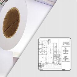 Rouleau papier blanc traceur 90g/m2 0.91m x 50m