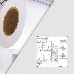 Rouleau papier blanc traceur 90g/m2 0.610m x 50m