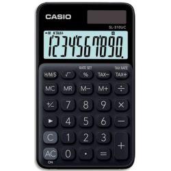 CASIO Calculatrice de poche 10 chiffres Noire SL-310UC-BK-S-EC