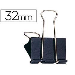 Pince q-connect double clip largeur 32mm boîte carton 10 unités