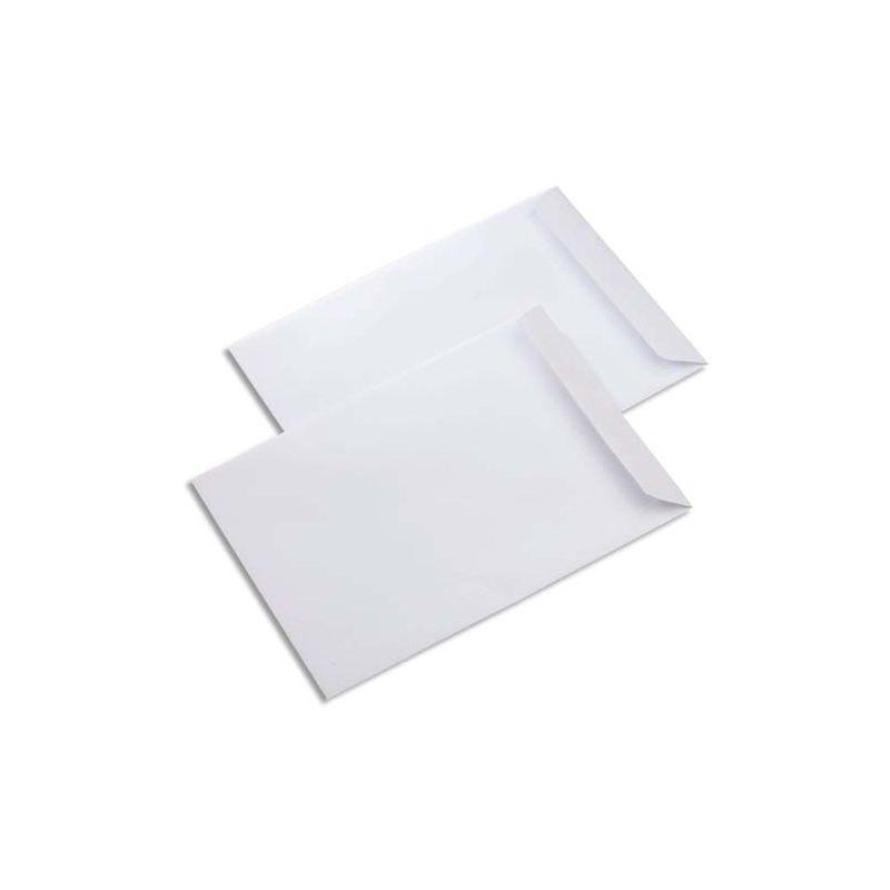 Boîte de 500 pochettes velin Blanc 90g C5 162x229 mm fermeture auto-adhésive