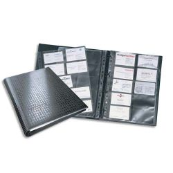 DURABLE Porte-cartes A4 Centium pour 400 cartes de visite Noir