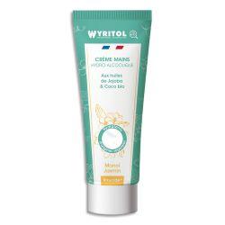 WYRITOL Crème Hydroalcoolique et hydratante 75ml pour la désinfection des mains. Parfum Monoï Jasmin