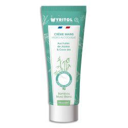 WYRITOL Crème Hydroalcoolique et hydratante 75ml pour désinfection des mains. Parfum Bambou Musc Blanc