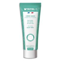 WYRITOL Crème Hydroalcoolique et hydratante 75ml pour désinfection des mains. Aloe Véra sans parfum