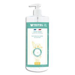 WYRITOL Crème Hydroalcoolique et hydratante 500ml pour la désinfection des mains. Parfum Monoï Jasmin