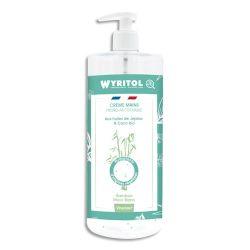 :WYRITOL Crème Hydroalcoolique et hydratante 500ml pour la désinfection des mains. Parfum Bambou Musc blanc