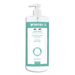 WYRITOL Crème Hydroalcoolique et hydratante 500ml pour la désinfection des mains Aloe Véra sans parfum
