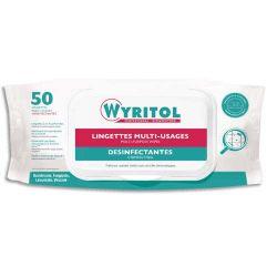 WYRITOL Paquet de 50 Lingettes Désinfectantes multi-usages à l'essence de Niaouli