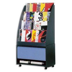 PAPERFLOW Présentoir accueil coloris Noir, 72,8x5