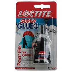 SUPER GLUE Flacon doser 3g Colle instantanée gel (goute à goute)