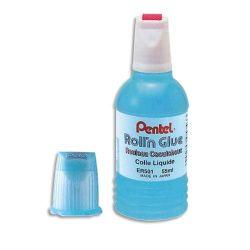 PENTEL Colle synthétique transparente flacon roulette 55 ml
