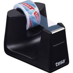 TESA Dévidoir Easy Cut SMART Noir + 1 rouleau eco & clear