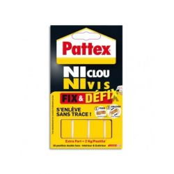 PATTEX Pochette de 10 pastilles adhésives Fix&Defix