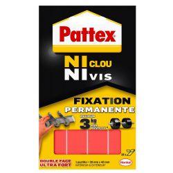 PATTEX Pochette de 10 pastilles adhésives Ni Clou Ni Vis
