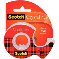 SCOTCH Ruban adhésif Crystal transparent 19mmx15m