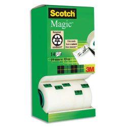 SCOTCH Tour distributrice de 14 rouleaux de ruban adhésif Magic invisible
