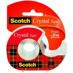 SCOTCH Ruban adhésif Crystal transparent 19mmx25m dévidoir