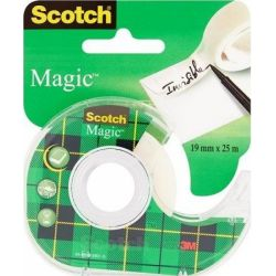 SCOTCH Ruban adhésif Magic invisible 19mm x 25m dévidoir plastique