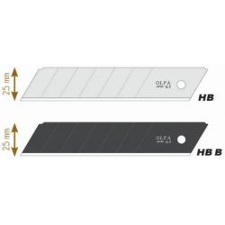 OLFA Recharge de 5 lames HB-5B en acier inoxydable, lame secable, pour cutter XH-1 - Largeur 25 mm