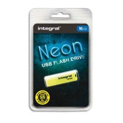 INTEGRAL Clé USB 2.0 NEON 16Go Jaune