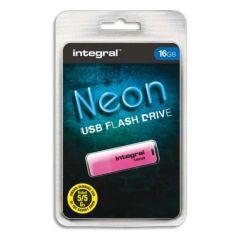 INTEGRAL Clé USB 2.0 NEON 16Go Rose