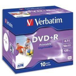 VERBATIM Pack de 10 DVD+R imprimable 4.7Go
