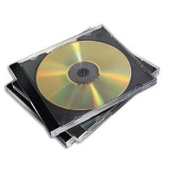 FELLOWES Packs de 10 boitiers CD standards Noirs