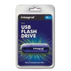 INTEGRAL Clé USB 2.0 EVO Bleue 16Go