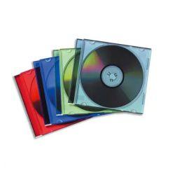 FELLOWES Lot de 25 Boîtiers CD slim coloris assortis