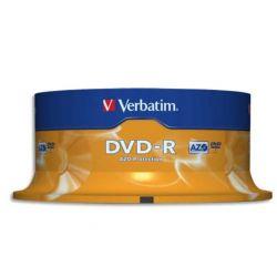 VERBATIM Tour de 25 DVD-R 4,7GB vitesse d'écriture 16x