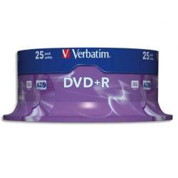 VERBATIM Tour de 25 DVD+R 4,7GB vitesse d'écriture 16x