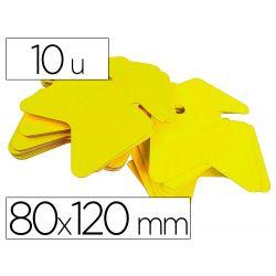 APLI Étiquette flèche fluo effaçable 80x120mm coloris jaune fluo paquet 10 unités