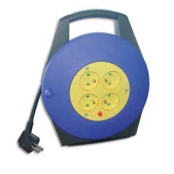 SAFETOOL Enrouleur électrique 10m avec sécurité thermique 4 prises