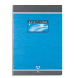 CONQUERANT C7 Cahier reliure piqûre 17x22 cm 96 pages 70g